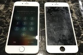 6:液晶不良|iphone画面が映らないのも修理可能です!の施工前画像