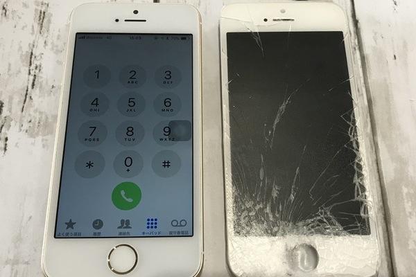 iPhone5S:ガラス割れ修理交換|まだまだ使い続けたいお客様へ🎵