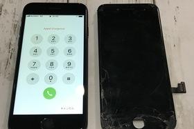 iPhone7:画面割れ修理交換|アイフォン修理は20分で直ります!の施工前画像